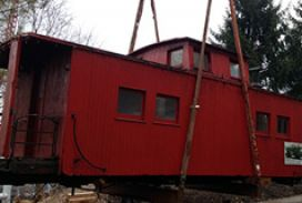 Project Caboose Move- Grantville, PA- C&D Rigging, Inc.
