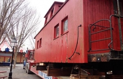 Moving a Caboose Using Rigging Services Photo - C & D Rigging, Inc.