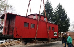 Photo Of Moving A Caboose With Steel Erection Equipment - C & D Rigging, Inc.