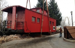 Historical Society Caboose Move, Hershey, PA